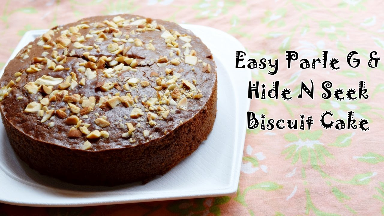 Parle G Biscuit Cake Recipe Easy Eggless Cake Using Biscuits