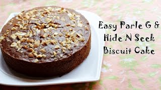 Parle G Biscuit Cake Recipe | Easy Eggless Cake using Biscuits | Magic of Indian Rasoi
