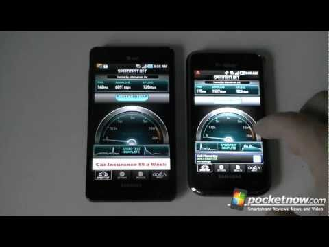 Samsung Infuse 4G vs. Galaxy S 4G Network Speed Tests
