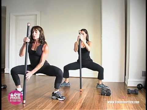 Weighted Body Bar Workout Building Strength And Stamina 10 Minutes At A Time