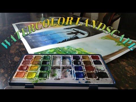 LANDSCAPE PAINTING    Watercolour   