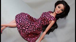 Одежда для кукол Барби. Как сшить платье.  Clothes for Barbie doll. How to make summer dress.(Выкройка тут - https://vk.com/diy_barbie., 2016-02-11T20:10:02.000Z)