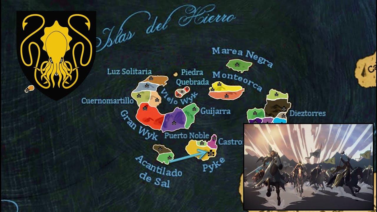 Mapa de Las Casas de las Islas del Hierro - ASOIAF