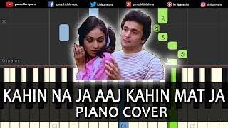 Kahin Na Ja Aaj Kahin Mat Ja Song | Piano Cover Chords Instrumental By Ganesh Kini