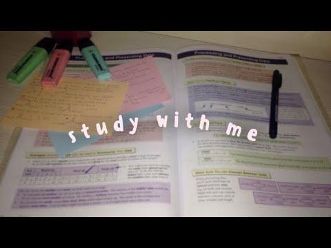 study with me // tealk