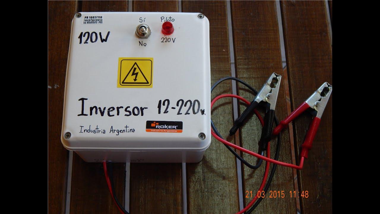 Inversor Casero 120W 12V  220V 50Hz  Homemade Power