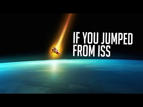What If You Jump to Earth Right From ISS?