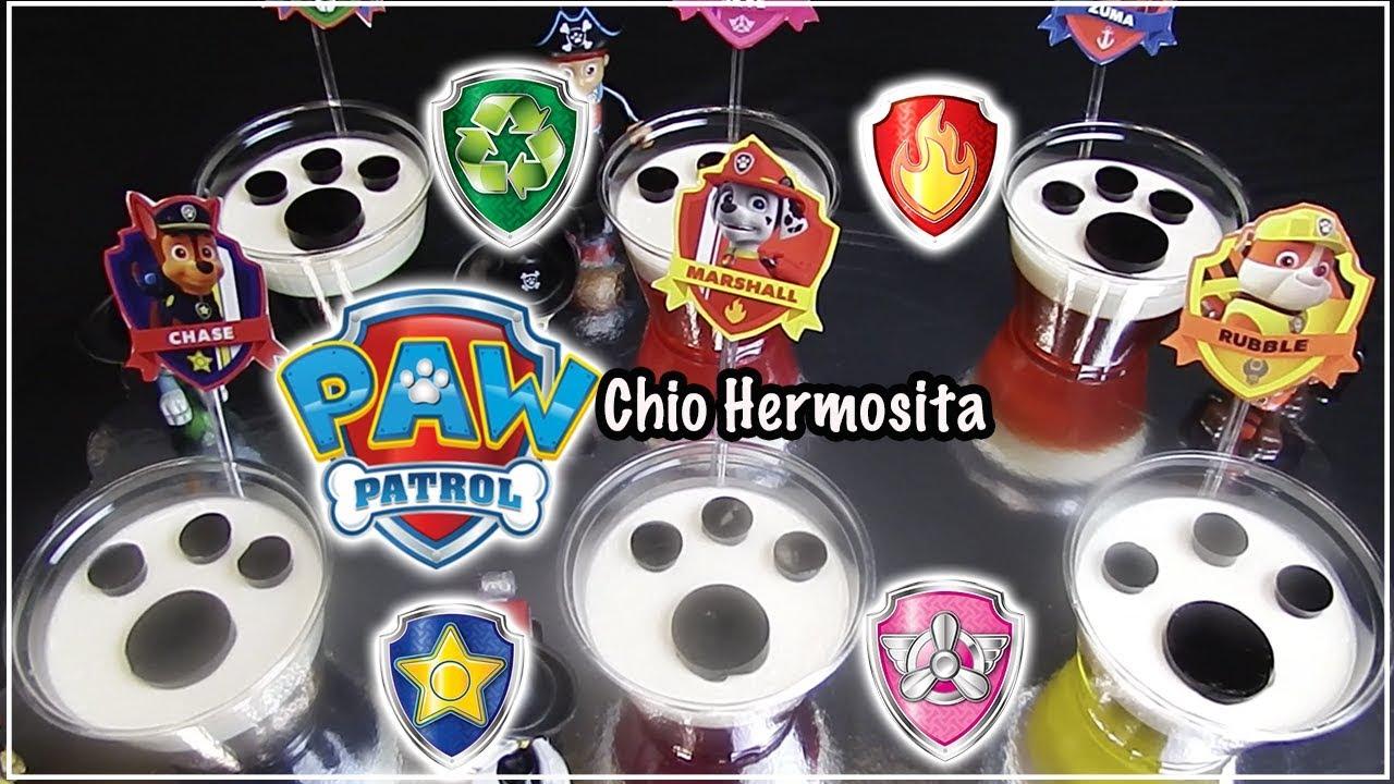 Gelatinas paw patrol individuales para mesa de postres ventas fiestas infantiles youtube - Individuales para mesa ...