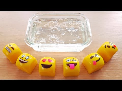 CLEAR SLIME - Mixing Emoji Lip Balm 😂