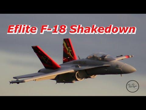 E-flite F-18 80mm Shakedown Flights