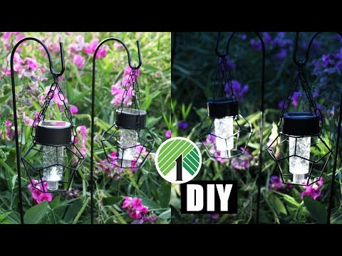 DIY DOLLAR TREE SOLAR LANTERN LIGHTS | Summer Outdoor Home Decor