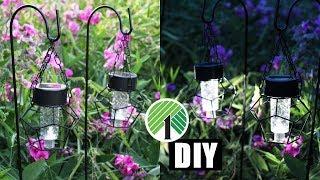 DIY DOLLAR TREE SOLAR LANTERN LIGHTS | Summer Outdoor Home Decor