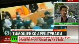 Yulia Tymoshenko Court Arrested, Handcuffed, Jailed