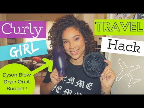 TRAVEL DIFFUSER + BLOW DRYER HACK FOR CURLY GIRLS | All Things Ada