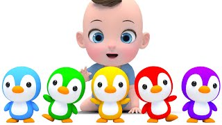 Learn Color with 5 little ducks Song  5마리 귀여운 아기 오리들이 물놀이 해요! 영어동요 Nursery rhymes 라임이와 영어 공부 해요!