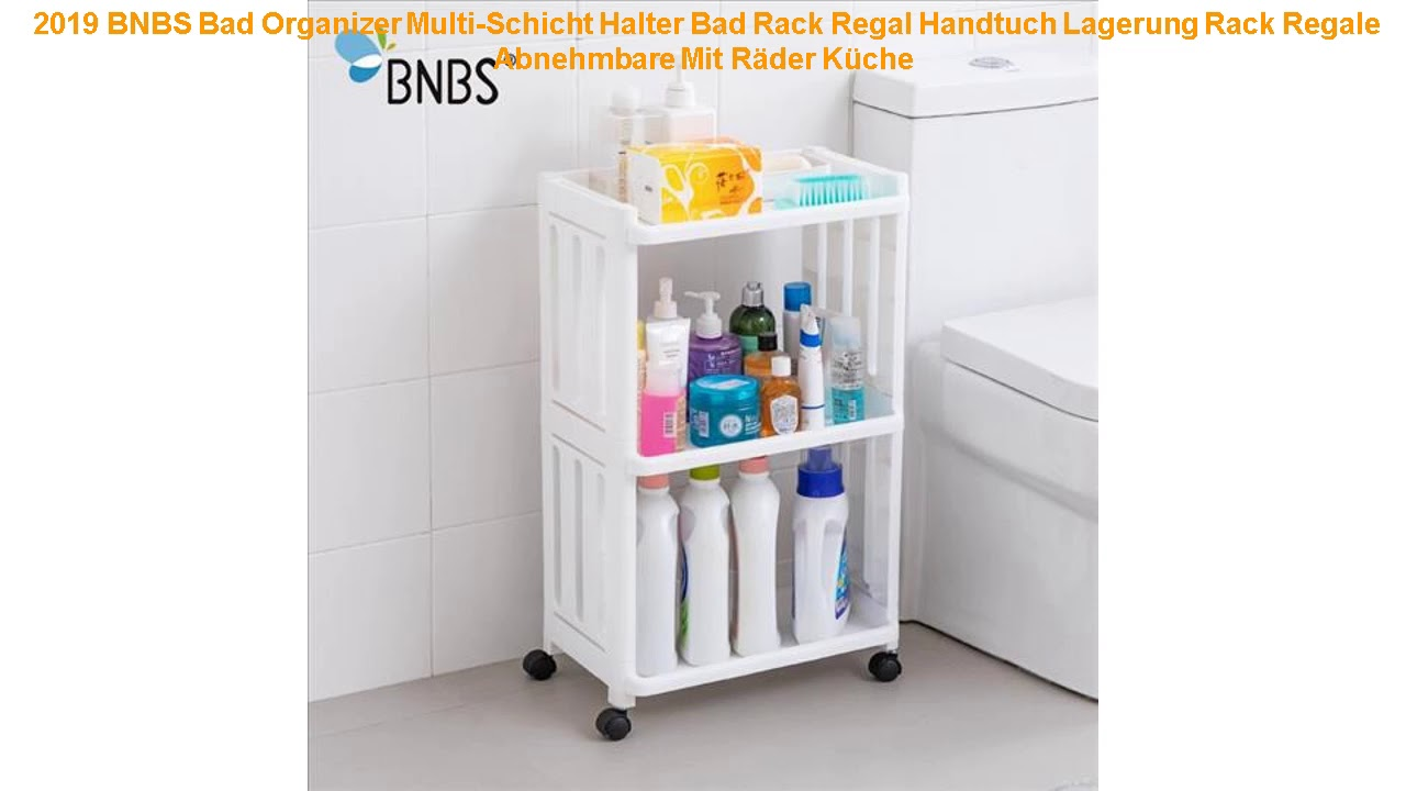 2019 Bnbs Bad Organizer Multi Schicht Halter Bad Rack Regal Handtuch Youtube