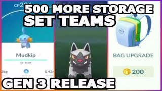 POKEMON GO 500 MORE STORAGE SPACE | GEN 3 RELEASE & WEATHER AFFECTS