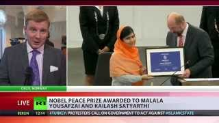 Nobel Peace Prize: Pakistani muslim Malala & Indian Hindu Satyarthi awarded