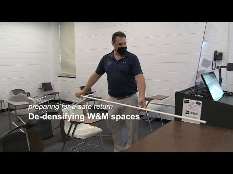 Preparing for a safe return: De-densifying W&M spaces