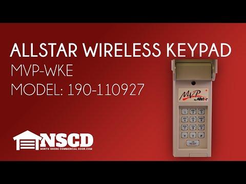 Allstar Mvp Wke 190 110927 Mvp Garage Door Opener Wireless