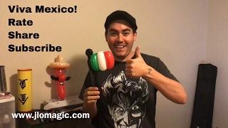 Mexican flag balloon - tutorial