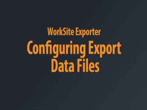 WorkSite Exporter - Exports Chaptered