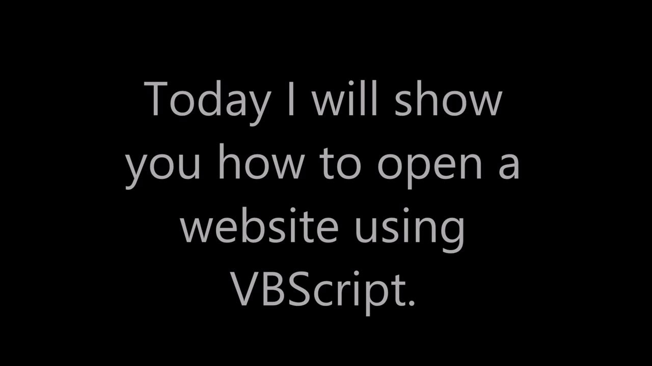 how to open a website/link with VBScript
