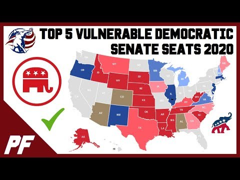 Top 5 Vulnerable 2020 Democratic Senate Seats - 2020 Senate Elections Predictions