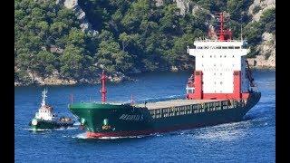 Ship Begonia S running through the Bosphorus spill