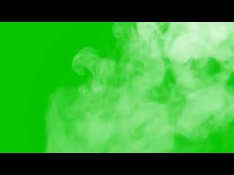 ДЫМ  на зелёном фоне