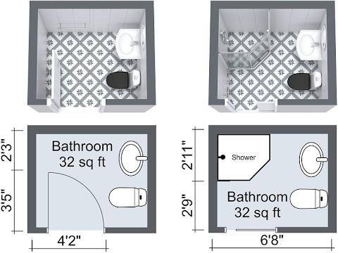 Small Bathroom Layout Shower and Bath Design Ideas - YouTube