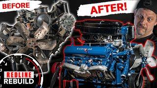 Amazing engine rebuild time-lapse of Cadillac 365 V-8 | Redline Rebuild