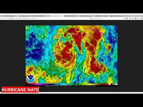 Hurricane Nate path update 10072017