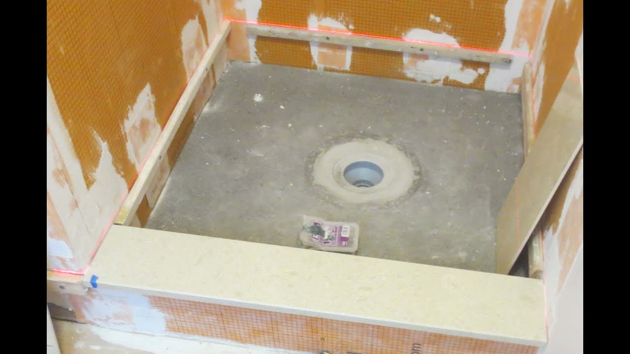 How to install a Schluter Kerdi-Drain with Deck Mud - YouTube