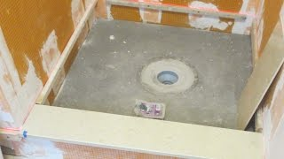How to install a Schluter Kerdi-Drain with Deck Mud