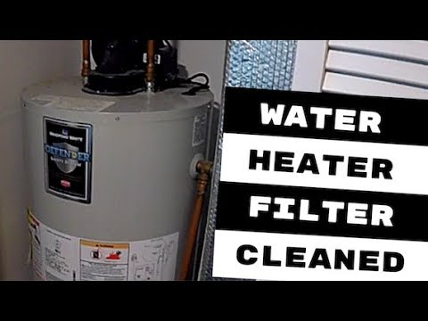 BRADFORD NATURAL GAS WATER HEATER FILTER CLEANED
