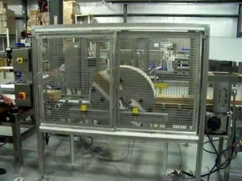 Adjustable Starwheel Case Flipper 180 Degree Conveyor By