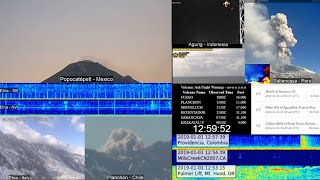🔴 Live - Erupting Volcanoes and Seismic Events