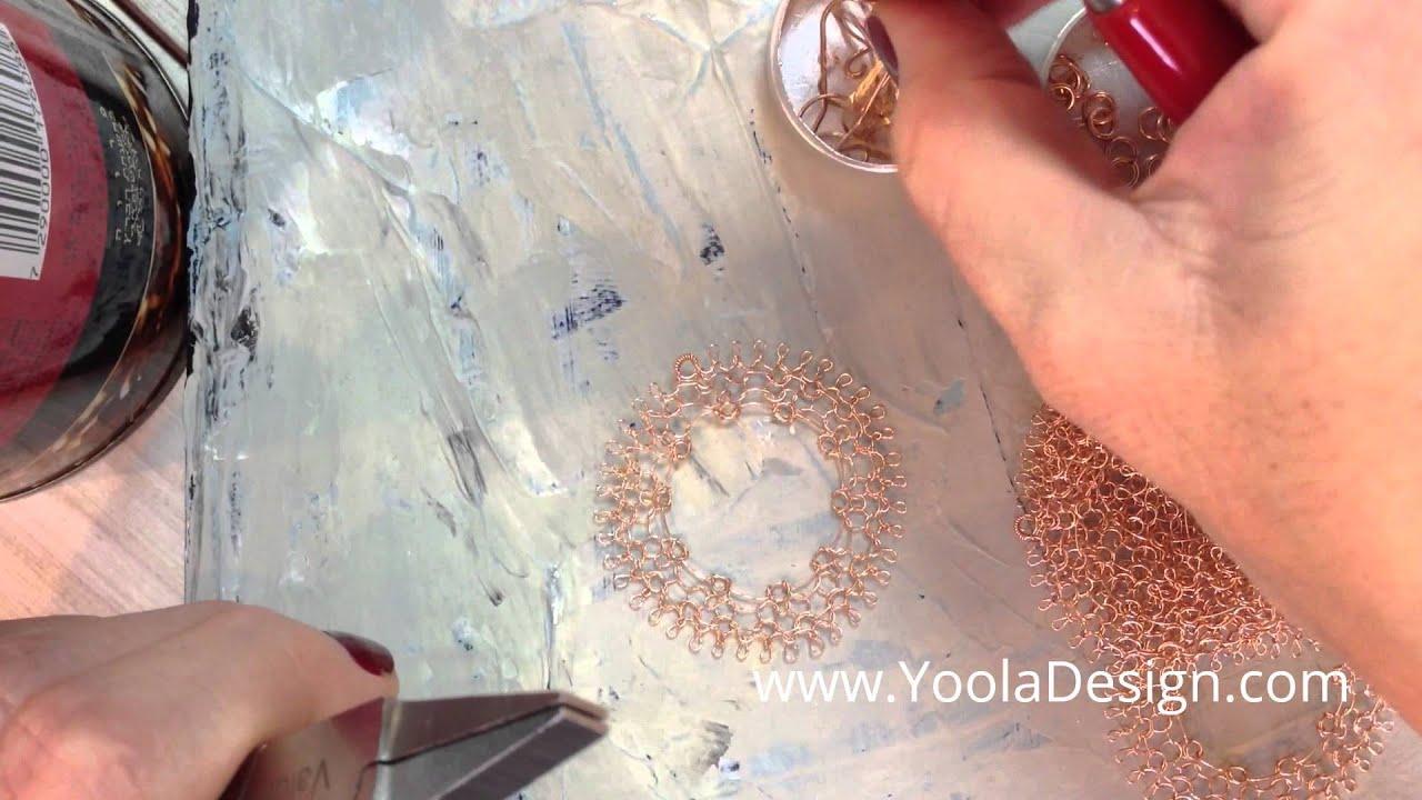 Learn To Crochet Wire Crochet Dream Catcher Earrings Youtube