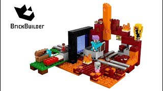 Lego Minecraft 21143 The Nether Portal - Lego Speed Build