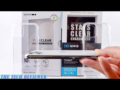 Tech21 Pure Clear or Speck Presidio Stay Clear for iPhone 11 Pro?? Comparison and Review!