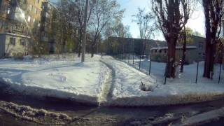 Харьков 20.04.2017 - все в снегу. В город пришла зима и ... осталась!