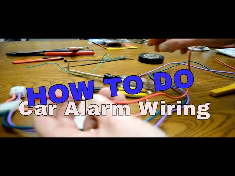 How to make wiring connections when installing alarm or remote starter