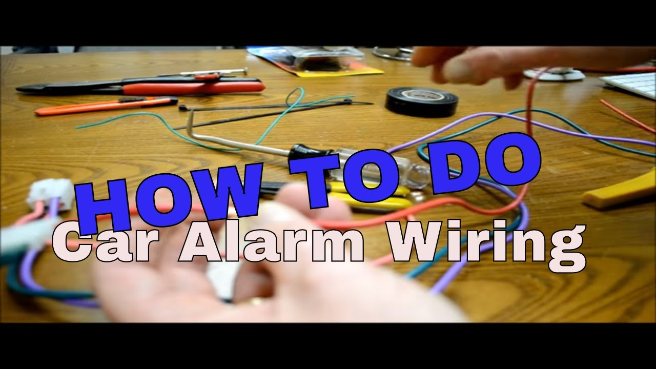 how to make wiring connections when installing alarm or remote starter [ 1280 x 720 Pixel ]