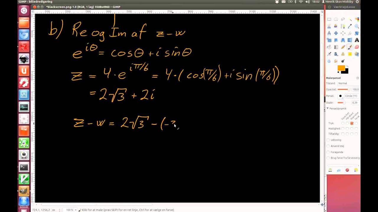 2012-06-06 Opgave 2. Komplekse tal