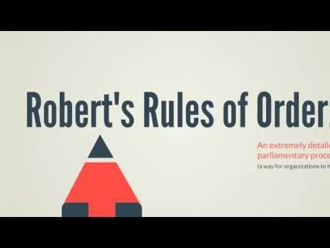 Robert's Rules: 5 Key Things to Know