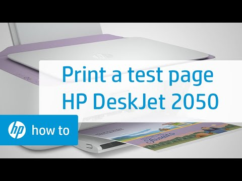 Printing a Test Page - HP Deskjet 2050 All-in-One Printer | HP DeskJet | HP