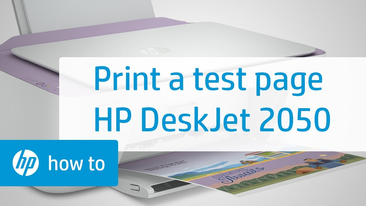 Printing A Test Page Hp Deskjet 2050 All In One Printer Youtube
