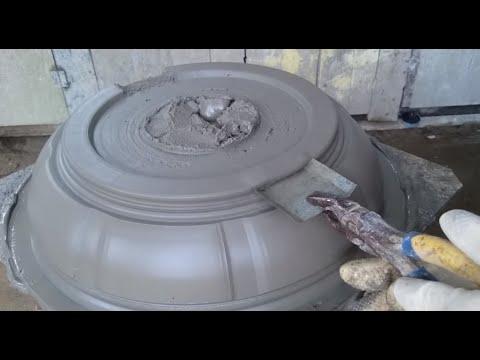 how to make cement bonsai pot_cách làm chậu tròn cải tiến.