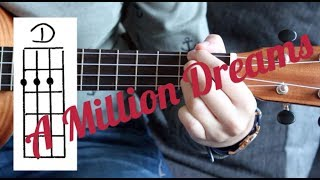 Ukulele Lesson - A Million Dreams ( from The Greatest Showman Soundtrack) (with fingerpicking)